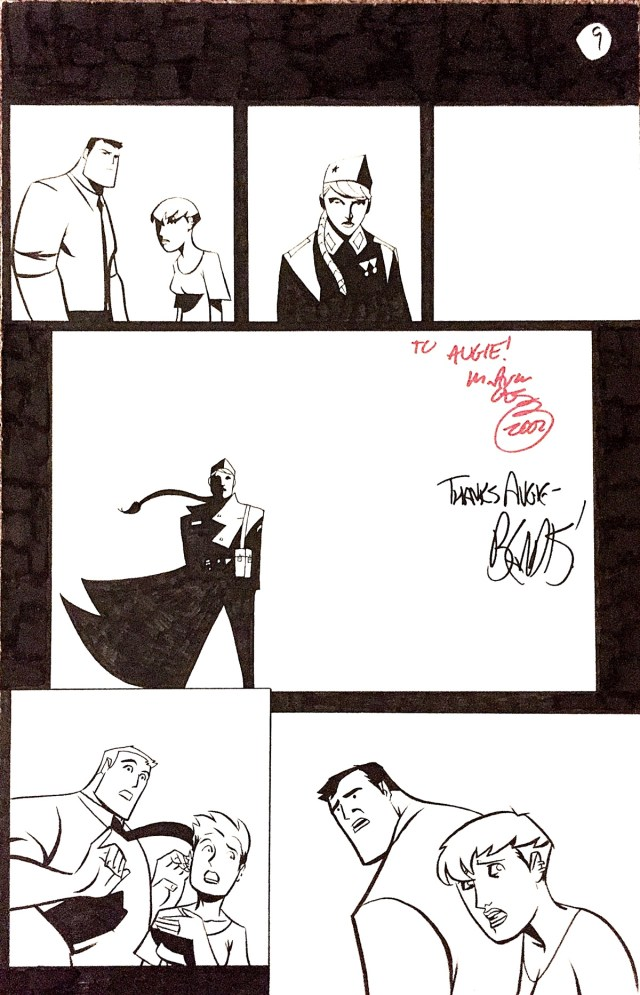 Powers original art page by Michael Avon Oeming