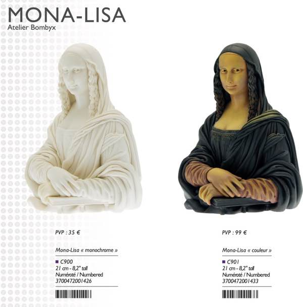 Mona Lisa bust from Attakus