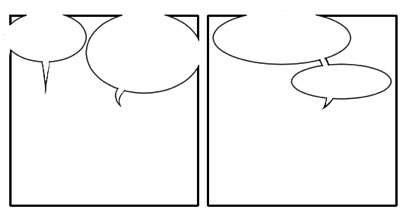 Comics Lettering: Word balloons attach to borders