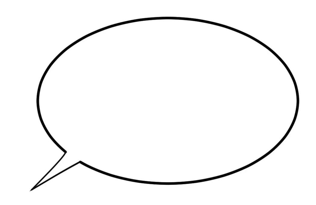 large empty word balloon