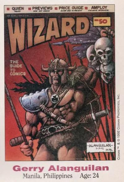 Gerry Alanguilan drew Conan for Wizard #15 in 1992