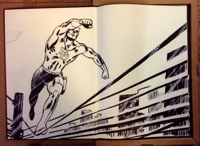 David Mazzuchelli Artist's Edition Daredevil Born Again front inside cover