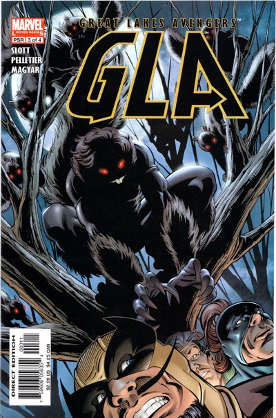 GLA #3 cover, featuring the Dark Knight version of Squirrel Girl, really.