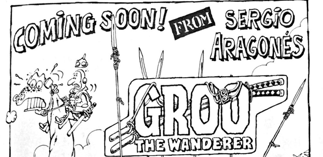 """Ad for the first issue of """"Groo"""""""