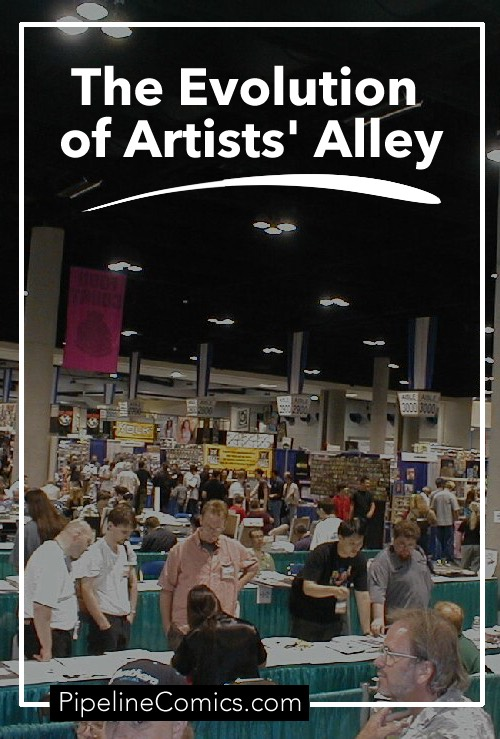 Pinterest for The Evolution of Artists' Alley