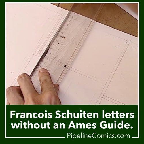 Francois Schuiten letters without an Ames Guide. Is he nuts?