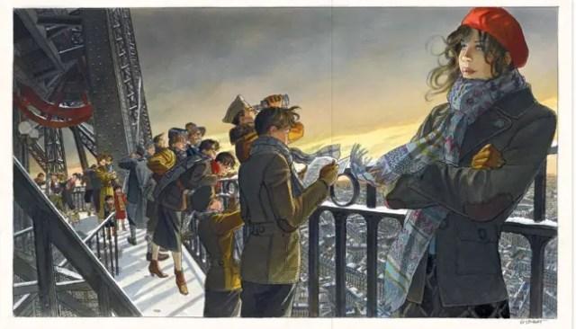 Jean-Pierre Gibrat original art is painted beauty