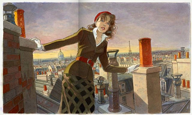 Jean-Pierre Gibrat shows good lighting and architecture on the roof in Paris