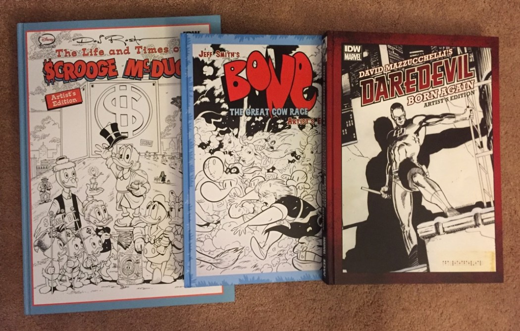 Three Artist's Edition books from IDW