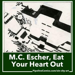 Frank Miller's Sin City versus M.C. Escher