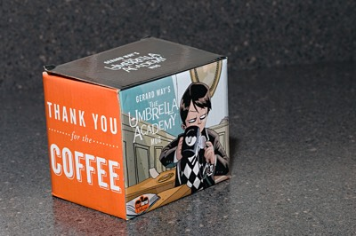 Dark Horse's Umbrella Academy mug packaging box