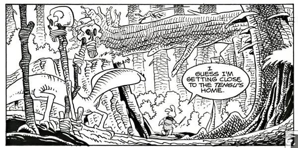 Stan Sakai Usagi Yojimbo panel composition