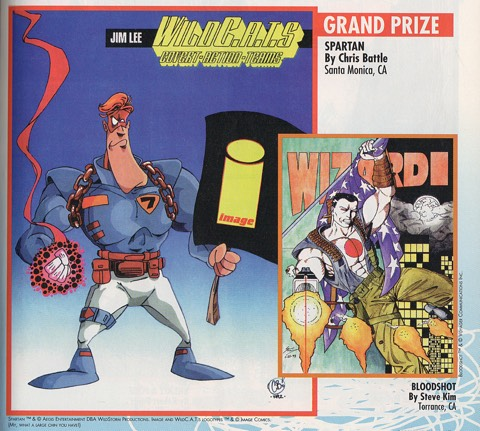 Chris Battle draws Jim Lee's WildC.A.T.S' Spartan for Wizard #40