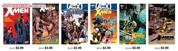 Wolverine and the X-Men by Jason Aaron, on sale at Comixology once upon a time