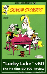 Funny Lucky Luke v50 cover with Luke arm wrestling Jolly Jumper