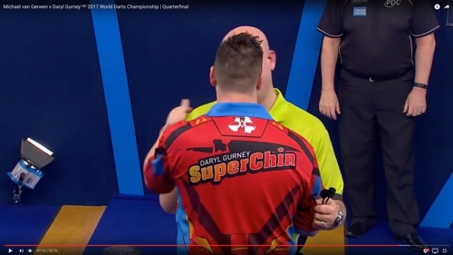 Daryl Gurney is the Superchin of darts