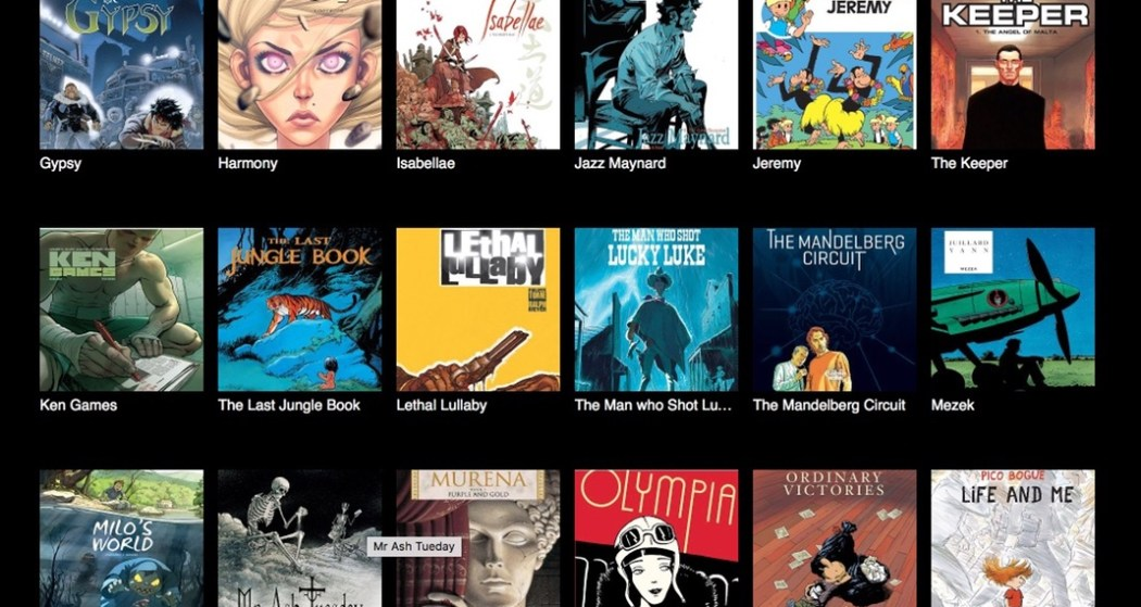 A selection of Europe Comics on Comixology
