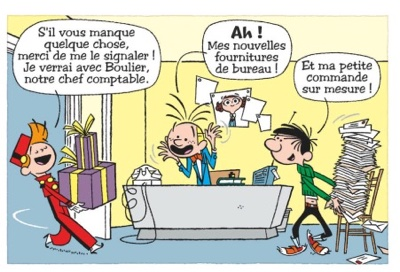 Spirou and Gaston speak another language