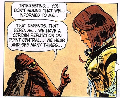 Laureline is a master negotiator