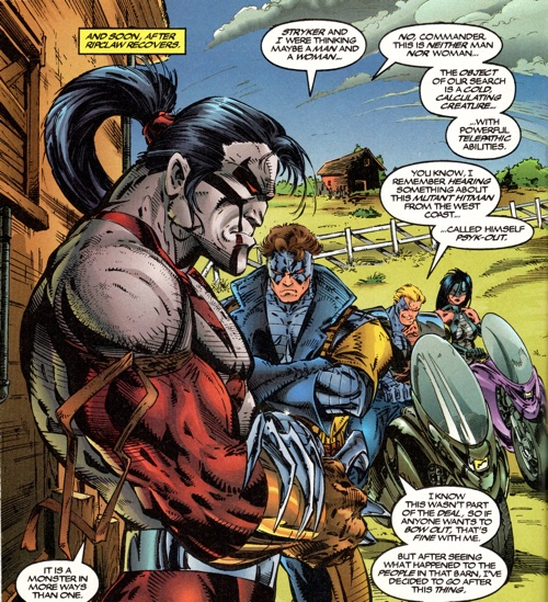 Todd McFarlane draws the CyberForce team well in this panel.