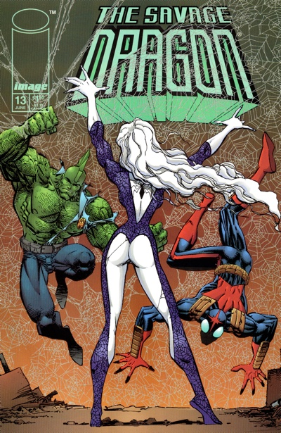 The second Savage Dragon #13 cover by Erik Larsen a year after Image X Month.