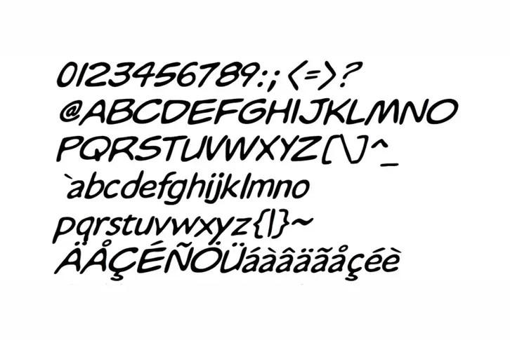 Whizbang Font Sample