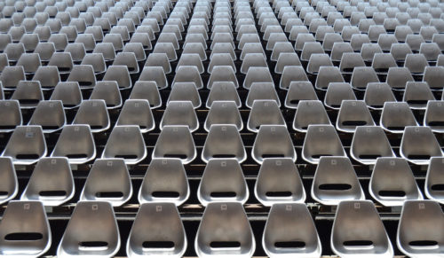 An ampty audience of seats