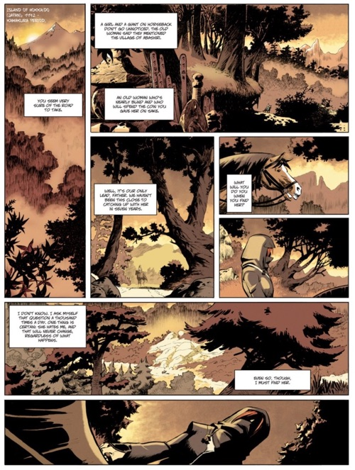 The first page of Isabellae features some beautiful backgrounds from Gabor
