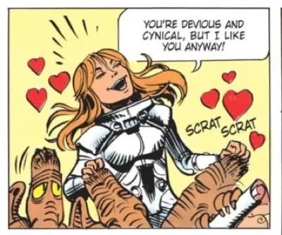 Laureline loves the Shingouz