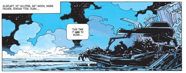 Valerian is off at sea on another planet, trying to pick up a creature who likes looking at the stars.