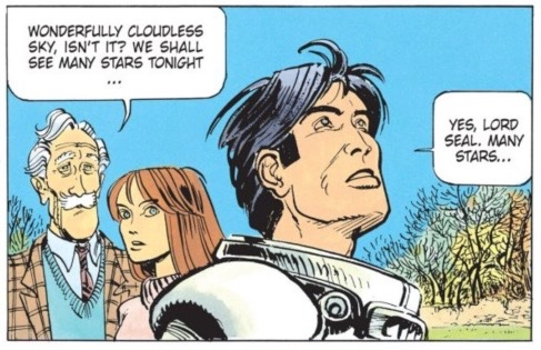 Valerian isn't so sure about the stars in the sky.