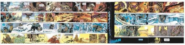 Five page spread by Jean-Claude Mezieres in Valerian and Laureline v8 Heroes of the Equinox