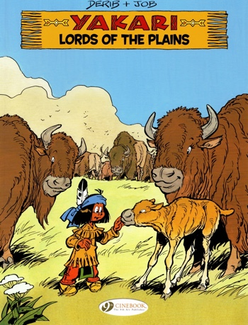 Yakari v14 Lords of the Plains cover from Cinebook