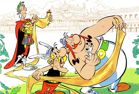 Asterix and the Missing Scroll cover header