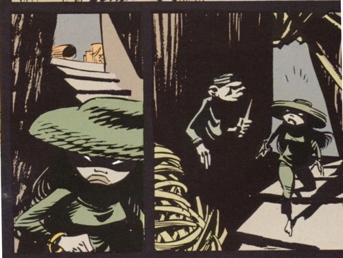 Sample inky panels from Les Innommables by Didier Conrad