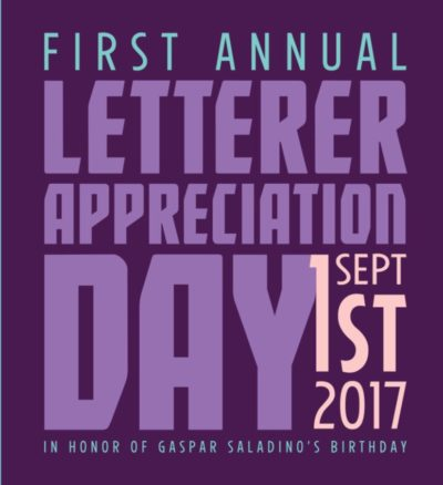 2017 Letterer Appreciation Day by Nate Piekos