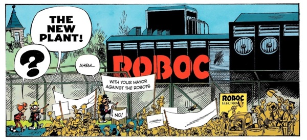the new automation plant in Spirou and Fantasio Who Will Stop Cyanide by Tome and Janry