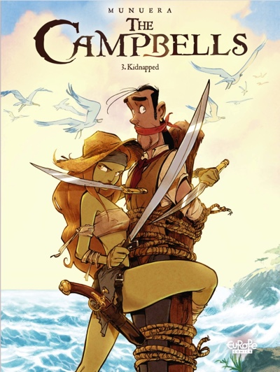 "The Campbell by Jose-Luis Munuera volume 3: ""Kidnapped"" cover"