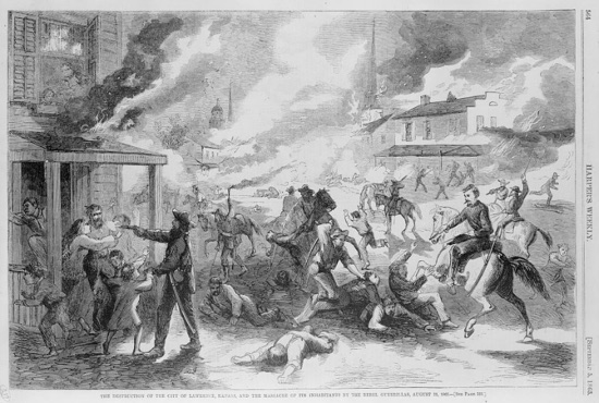 Lawrence Kansas Civil War massacre