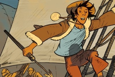 Esteban the Whaler volume 1 by Matthieu Bonhomme cover detail