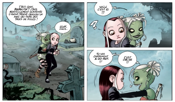Sample panels from tizombie series