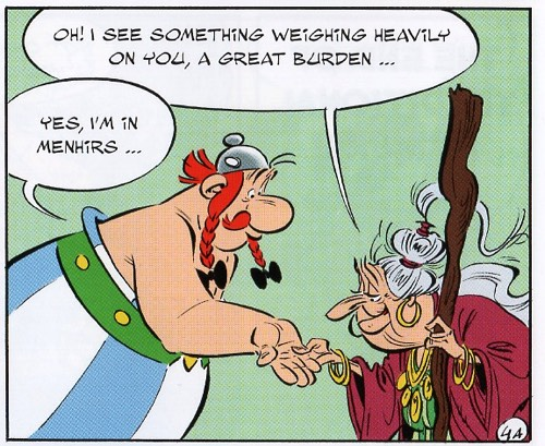 Obelix and a menhir joke