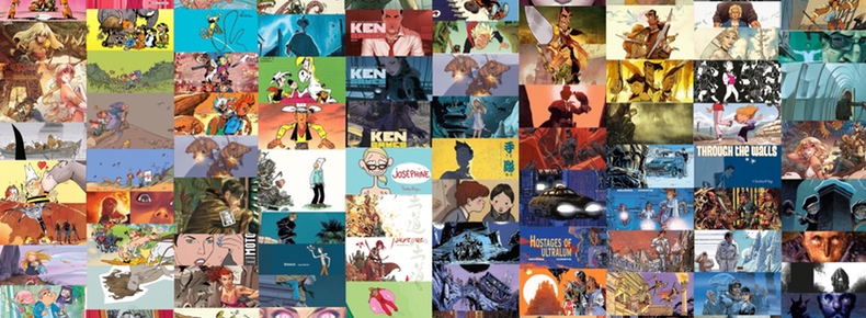 A collage of 100 comics covers I've reviewed this week.
