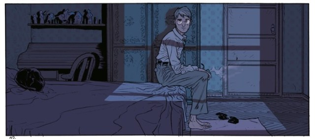Jordi Lafebre lights this scene well with his colors. And his composition for this panel is brilliant.