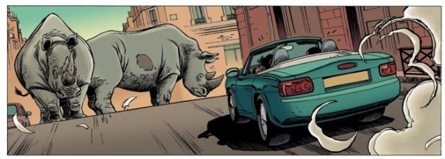 Look out for Rhinos in the street in Alone