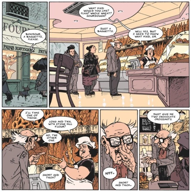 The bread store is a great running gag of the issue, as ordering bread there is an impossible series of choices