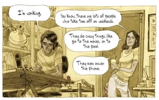 Struggling comic book artist by Cyril Pedrosa