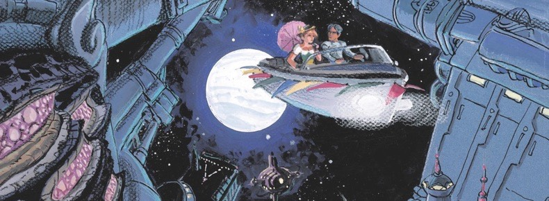 Valerian and Laureline v22: Memories of the Future cover detail by Mezieres