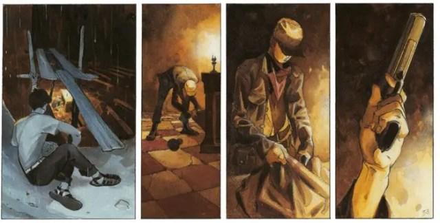 Lepage uses color contrast for moonlit versus candle lit scenarios
