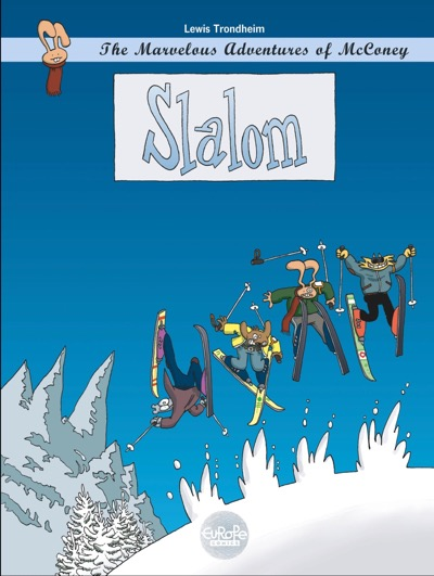 Cover to The Marvelous Adventures of McConey: Slalom cover by Lewis Trondheim